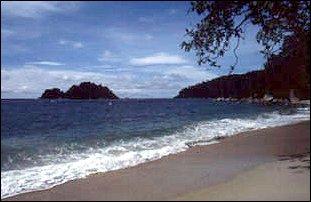 der Strand Teluk Nipah auf der Insel Pangkor in Malaysia