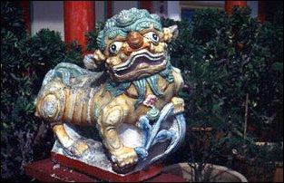 Figur am Kok Lok Si Tempel, Penang, Malaysia