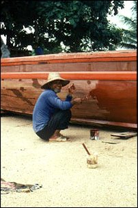ein freundlicher Bootseigentümer, Langkawi, Malaysia