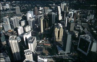 die Hochhäuser vom Kuala Lumpur, Malaysia