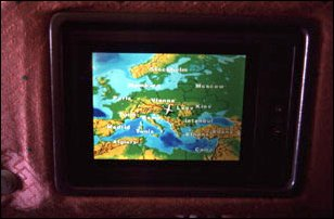 im Fliger der Malaysia Airlines nach Malaysia