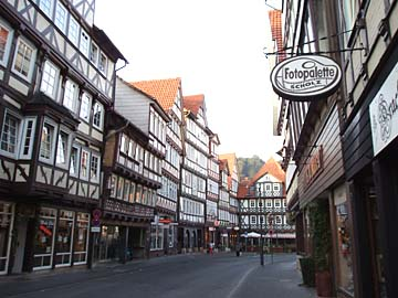 Fachwerkhäuser in Hann. Münden, Niedersachsen