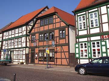 Fachwerkhäuser in Grabow, Mecklenburg-Vorpommern