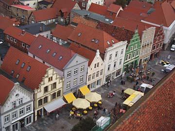 Güstrow, Blick von der Kirche, Mecklenburg-Vorpommern