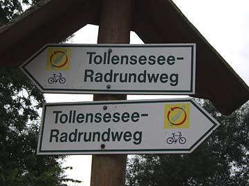 Tollensesee-Radweg bei Neubrandenburg