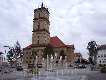 Neustrelitz, Stadtkirche am Marktplatz