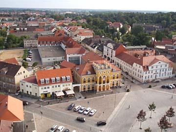 Neustrelitz, Blick von der Stadtkirche