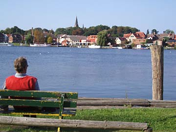 Malchower See, Blick auf Malchow