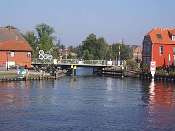 Malchow, Blick auf Drehbrücke