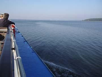Plauer See vom Schiff aus