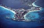 Cancun in Mexiko von Flugzeug aus