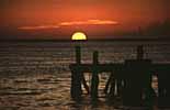 ein Sonnenuntergang auf der Isla Mujeres in Mexiko