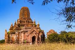Eine antike und gut erhaltene Pagode der Tempelstätte Bagan
