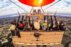 Eine Selfie unserer Ballonfahrt über Bagan in Myanmar
