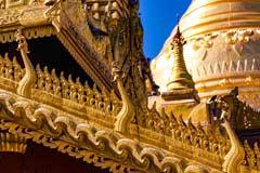 Vergoldete Details an einer Pagode der Tempelstätte Bagan