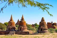 Viele Pagoden sind in der antiken Tempelstadt Bagan noch gut erhalten