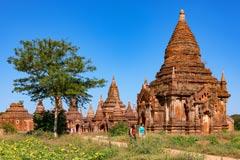 Beeindruckende Pagoden in der Weltkulturstätte von Bagan in Myanmar