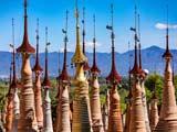 Der Pagodenwald von in Dein am Inle-See in Myanmar