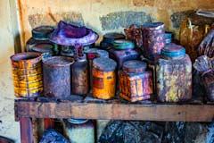 Eine Färberei für Stoffe am Inle-See in Myanmar