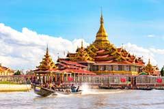 Die Phaung-Daw-U-Pagode in Ywama am Inle-See in Myanmar