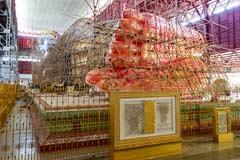 Der liegende Buddha des Chaukhtatgyi Tempel in Yangon