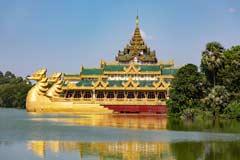 Die königliche Barke Karaweik Palace in Yangon