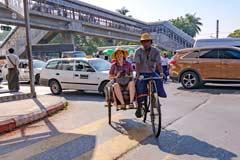 Interessante Fahrt mit der Rikshaw zu den Sehenswürdigkeiten von Yangon