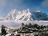 Bergsteigen in der Everest Range im Himalaya-Gebirge