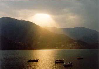 Phewa See in Pokhara, Annapurna, Nepal
