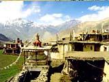 Blick ins Kali Gandaki Tal von Jharkot, Annapurna, Nepal