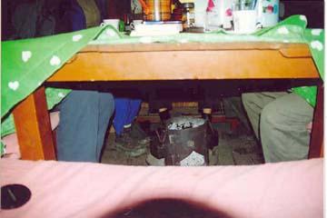 Fußbodenheizung in unserer Lodge in Muktinath, Annapurna, Nepal