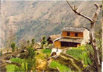 Aufstieg bei Rukse Chahara, Annapurna, Nepal