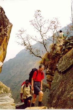 Steiler Aufstieg von Ghorepani zum Deorali Pass, Annapurna, Nepal