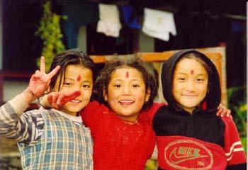 Mädchen in Ghandruk, Annapurna, Nepal