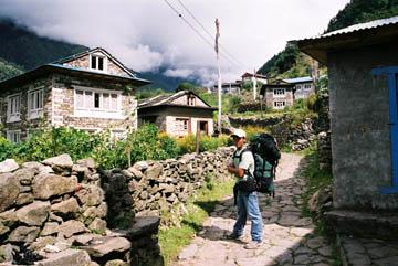 Monjo, Eingang zum Sagarmatha Nationalpark, Everest-Region, Nepal