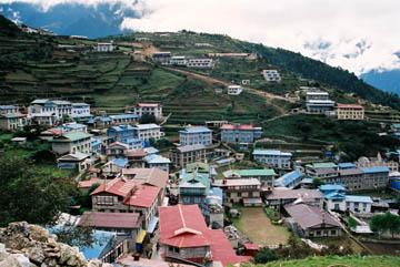 Handelszentrum Namche Bazar, Everest-Region, Nepal
