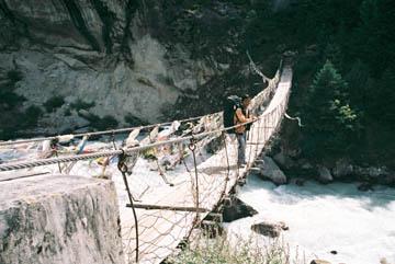 Hängebrücke über den Imja Khola, Everest-Region, Nepal
