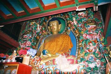 Begegnung mit Buddha, Kloster Tengboche, Everest-Region, Nepal