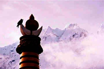 Blick auf den Himalaya vom Kloster Tengboche, Everest-Region, Nepal