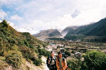 Weg von Tengboche nach Dingboche, Everest-Region, Nepal