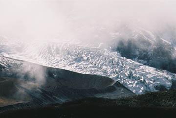 Ausläufer des Nuptse/Lhotse Gletschers bei Chukhung, Everest-Region, Nepal