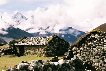 Schutzhütten oberhalb von Dingboche, Everest-Region, Nepal