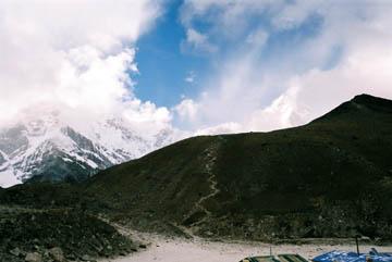 Blick von Gorak Shep Richtung Kala Patar, Everest-Region, Nepal