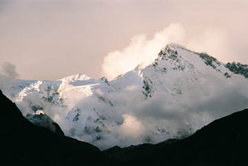 Abendlicht auf den Bergen um Gokyo, Everest-Region, Nepal