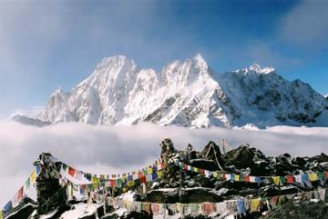 Aussicht vom Gipfel des Gokyo Ri, Everest-Region, Nepal