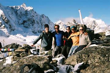 Gipfelfoto auf dem Gokyo Ri, Everest-Region, Nepal