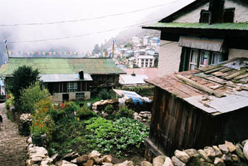 Zurück im Handelszentrum Namche Bazar, Everest-Region, Nepal