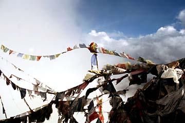 Gebetsfähnchen in Nepal