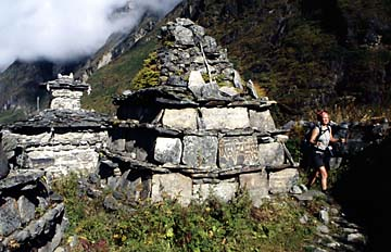 Gebetstafeln bei Langtang, Nepal