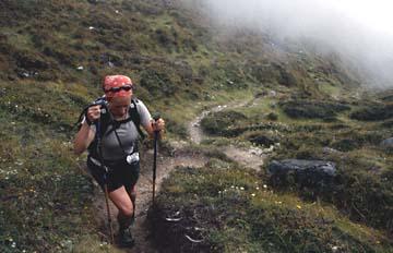 Auf dem Weg zum Kyanjin Peak, dem höchsten Punkt unserer Trekking Tour in Nepal